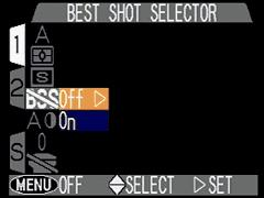 "Best Shot Selector! "" Enables or disables Best-Shot Selection mode."