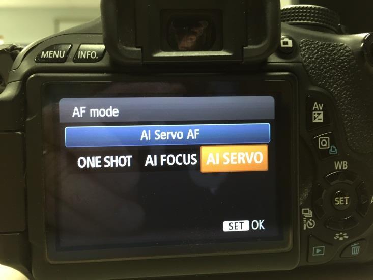 In the Program mode-set Continuous Shooting and