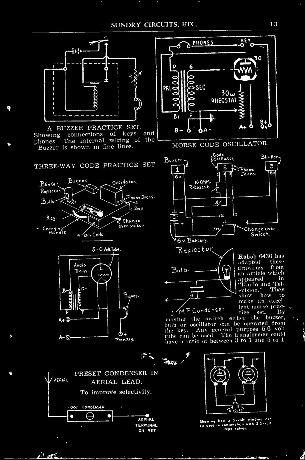 Radio Circuits Lamphouse Lectric Lamp House Ltd The Pdf 9 Volt Buzzer Circuit Diagram Rahob 6436 Has Adapted These Bulb Drawings From An Article Which Appeared In And