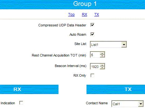Figure 88 Subscriber Radios Personality Settings - Set the same TX admit criteria and in call criteria as for the ARS control radio.
