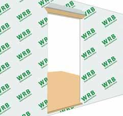 Integrating The Weather Resistive Barrier a) Apply Weather Resistive Barrier (WRB) to the exterior wall surface per manufacturers instructions.