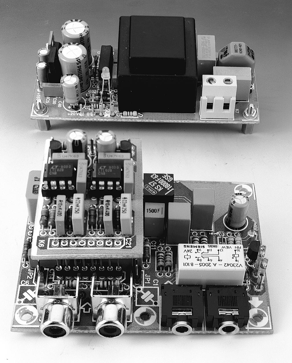 Figure. The completed prototype preamplifier for use with dynamic and/or moving-coil pickup elements.