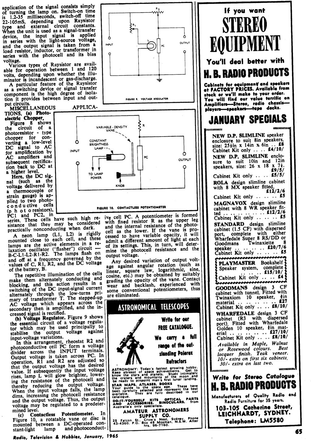 January 1965 Radio 26 Vol No 10 Television Com Buy Ac90 1000v Induction Type Ac Circuit Detector Voltage Application Of The Signal Consists Simply R