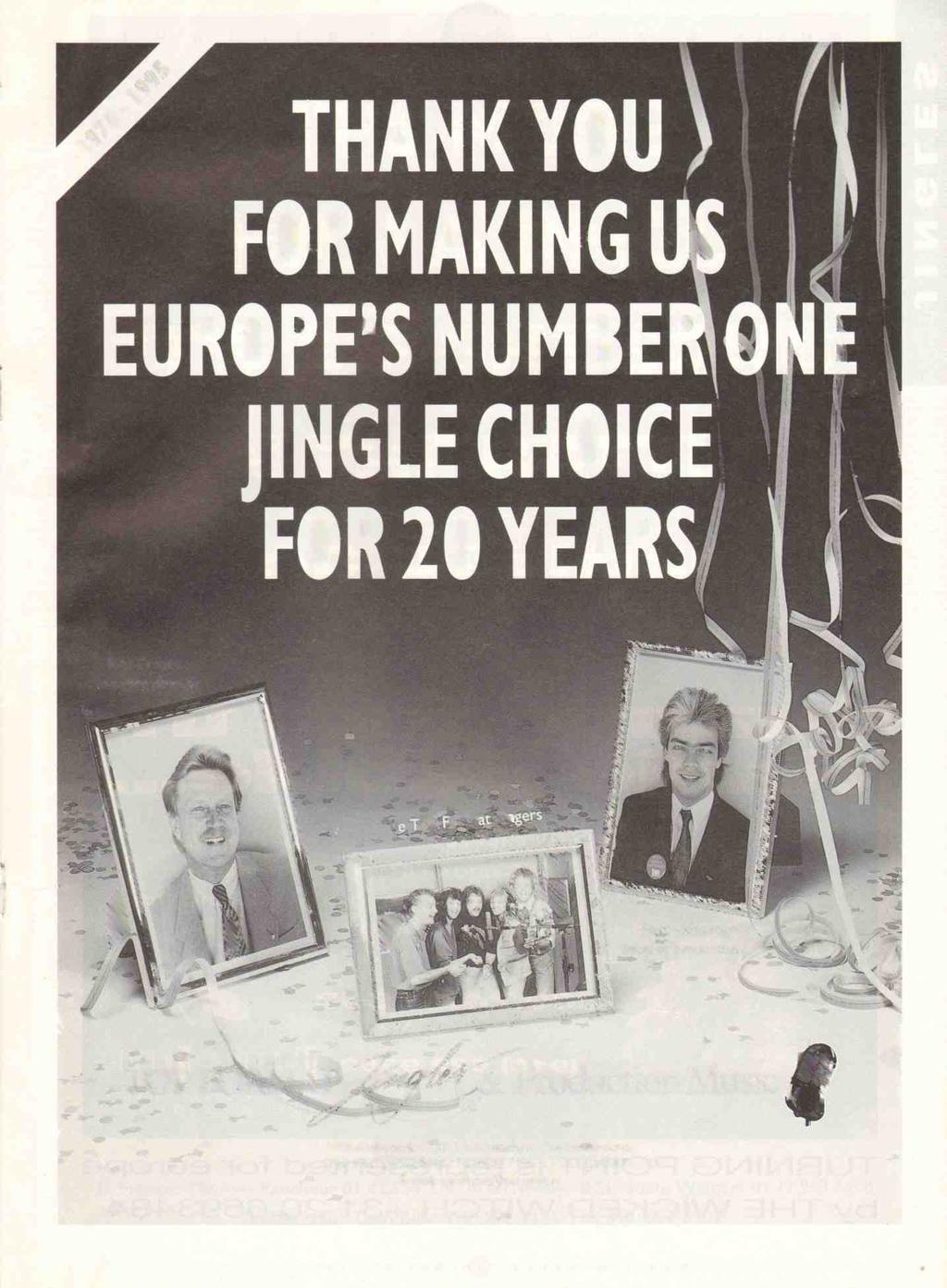 AS. THANK YOU FOR MAKING EUROPE'S NUMBE' JINGLE