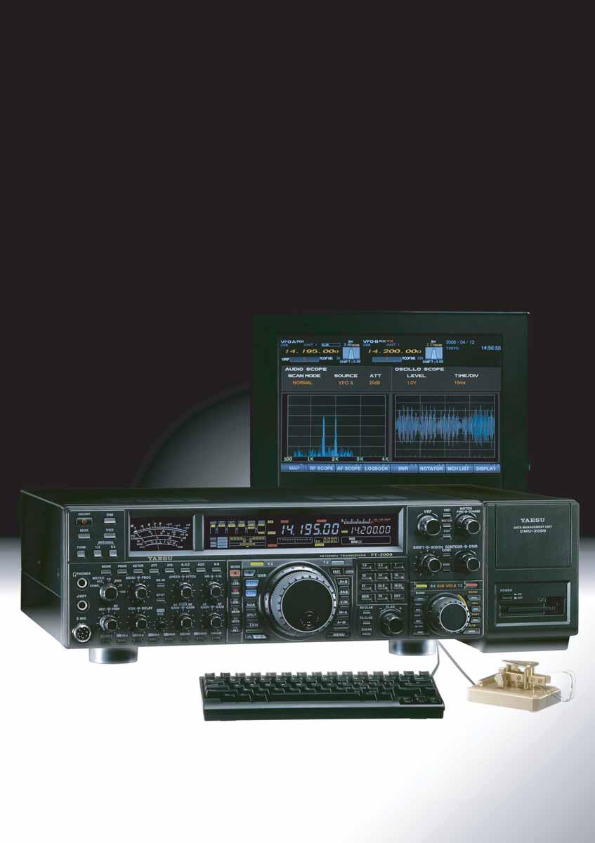 The Evolution of the FT DX9000 Series The Powerful FT-2000 Strong receiver front end includes VRF (Variable RF Tuning) preselector and optional external High-Q Tuning for the 1.