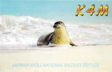 HF DON FIELD, G3XTT E-MAIL: DON.FIELD@GMAIL.COM MAY 2010 RADCOM HF More DX as the conditions improve on the bands K4M QSL card showing the endangered Hawaiian Monk Seal in the Midway surf.