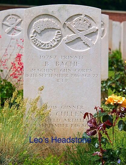 He is buried at the Heilly Station Cemetery, Mericourt-l'Abbe, Somme, France. His grave reference is IV. D. 15.