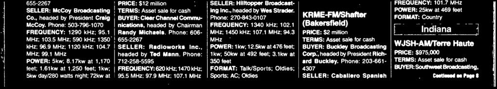3 MHz POWER: kw; 2.5kw at 476 feet; kw; 5kw at 492 feet; 3.