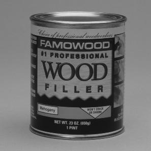 WOOD PUTTY/FILLER Famowood - Professional Grade Wood Filler With more than 50 years of proven performance, Famowood is the choice of professional woodworkers.