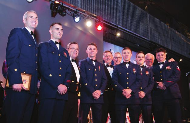 Foundation Chairman; Anne Brengle, Coast Guard Foundation President; ADM Paul Zukunft, Commandant of the Coast Guard; VADM Peter Neffenger, Vice Commandant of the Coast Guard; LT Erin Gill, and Otto