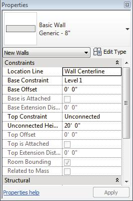 Revit Architecture 2012 Fundamentals The Options Bar The Options Bar displays the most used options for an element, as shown in Figure 2 3.