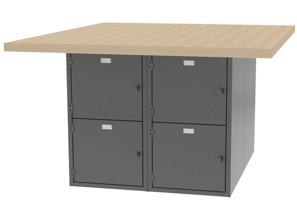 variety of sizes and work surface configurations.
