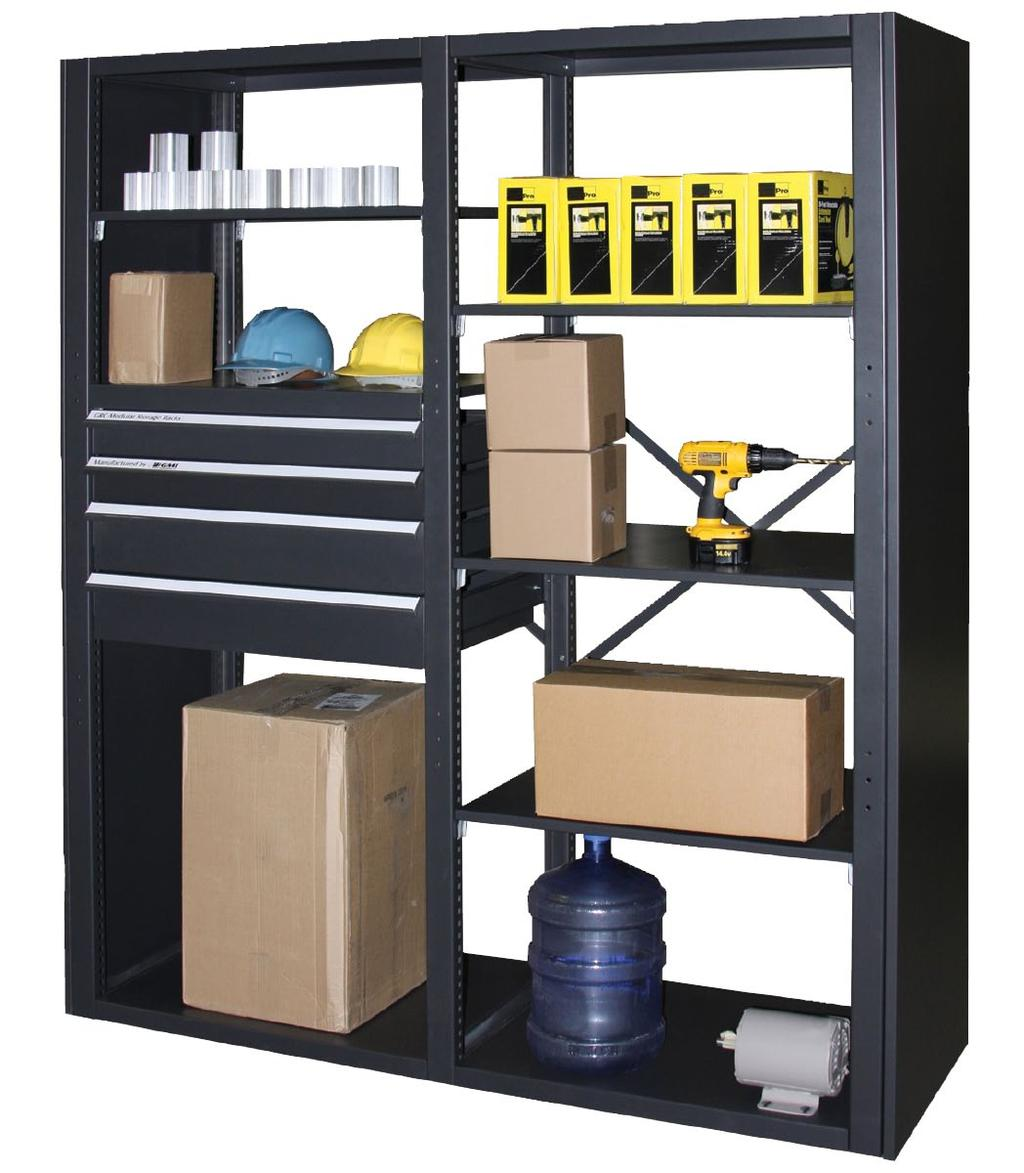 Shelving & Material Storage Material Storage Racking Constructed from heavy gauge steel for excellent strength and durability.