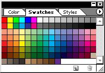 Image and Text Basics (continued) Color Swatches The Swatches Palette consists of small color squares called swatches.