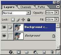 With the new Background copy layer still selected, choose Filter, Blur, Gaussian Blur from the menu bar. Change the Radius to 4.2 in the Gaussian Blur dialog box, and then click OK to blur the layer.