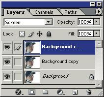 With the new Background copy 2 layer still selected in the Layers palette, click the Add a layer style button, and then click Blending Options.