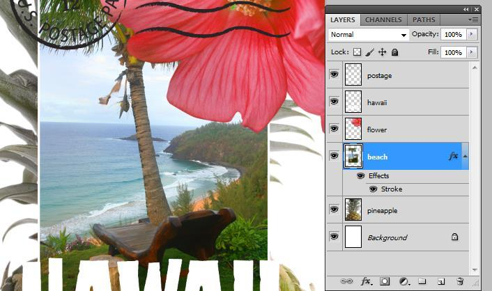 Background images, but under the Flower and Hawaii.
