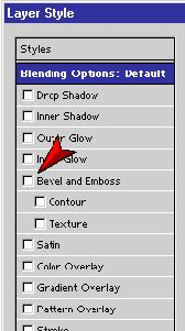 Double-click on the This and That Collectibles layer The Layer Style dialog box appears This dialog box provides a variety of layer effects You will first create a bevel and
