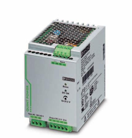 Primary-switched power supply with SFB technology, 1 AC, output current 20 A INTERFACE Data Sheet 103129_en_01 PHOENIX CONTACT - 05/2008 1 Description QUINT POWER power supply units highest system