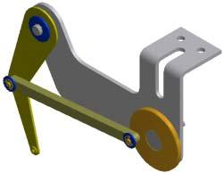 Exercise 2 - Assemble the Model Open an existing assembly file and place the link in the assembly. You add assembly constraints to complete the linkage mechanism. Assemble the Model 1. Open mechanism.