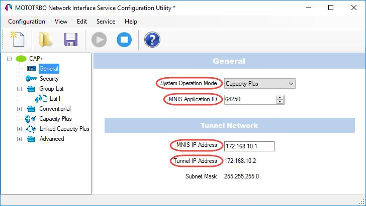 4.5 Configuring MOTOTRBO MNIS This section describes how to configure and run MOTOTRBO MNIS service using MNIS Configuration Utility. Launch MNIS Configuration Utility.