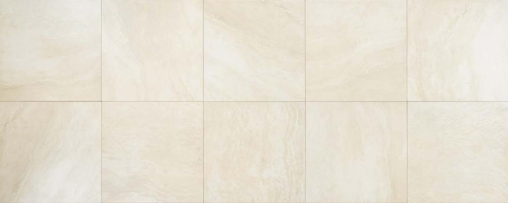 "24 x24 T.MILK Porcelain Stoneware Floor Wall V2 Slight Variation BOT 3000 compliant Thickness 3/8"" (9mm) NO V.O.C Frost Proof Low water absorption (<0,5%) Made in Usa DECORS TRIMS Composizione M AR."