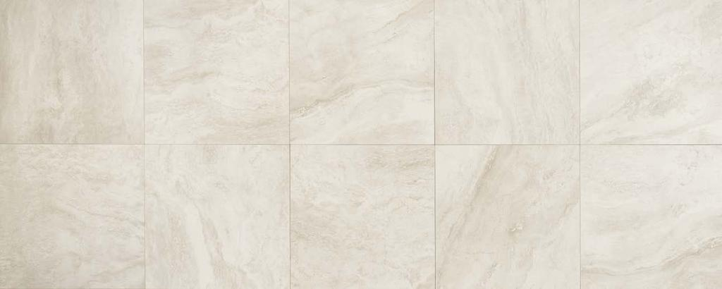 "24 x24 T.PEARL Porcelain Stoneware Floor Wall V2 Slight Variation BOT 3000 compliant Thickness 3/8"" (9mm) NO V.O.C Frost Proof Low water absorption (<0,5%) Made in Usa DECORS TRIMS Composizione M AR."