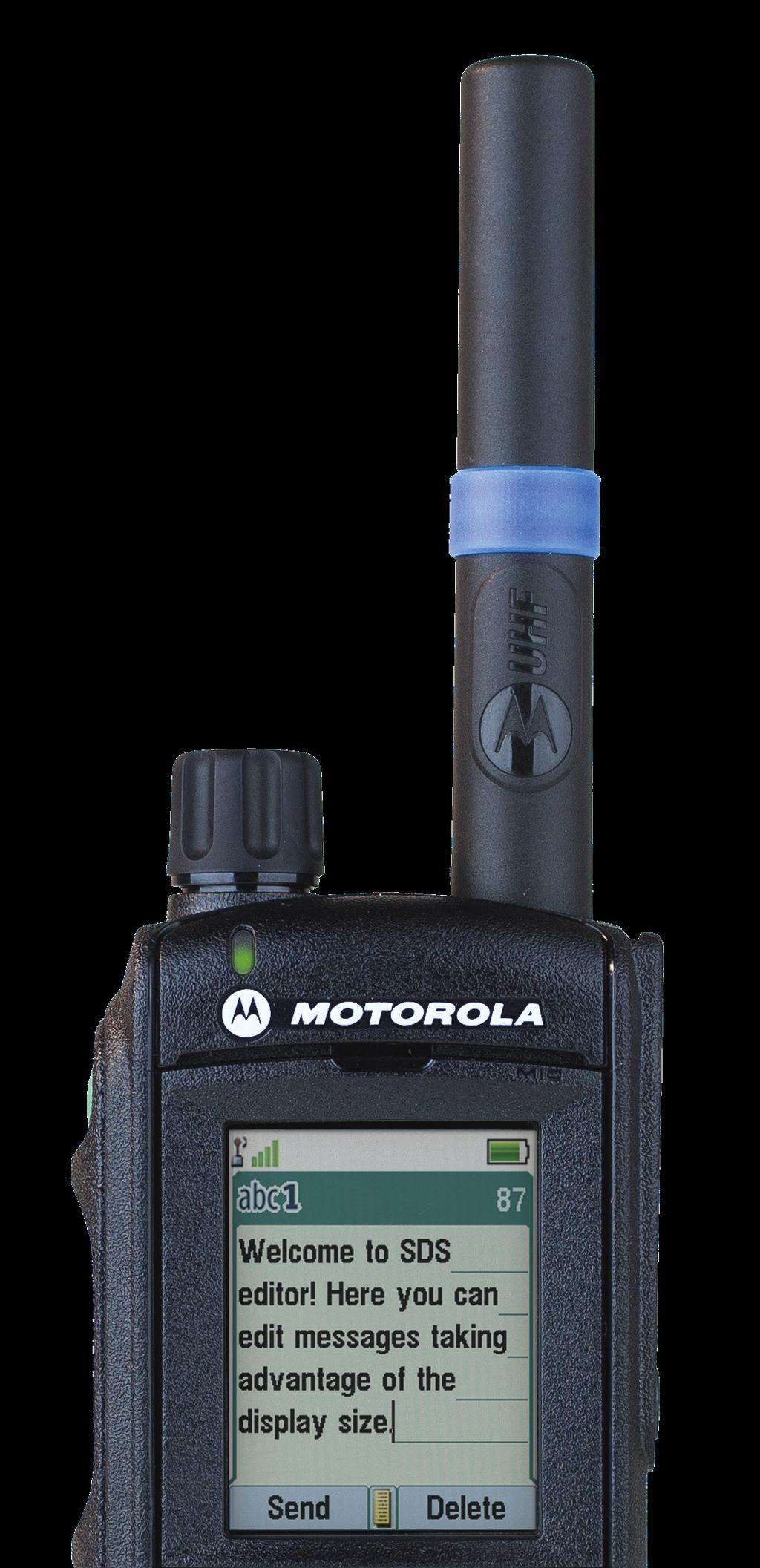 Patented helical GPS antenna integrated into TETRA antenna MTP6650 TETRA PORTABLE