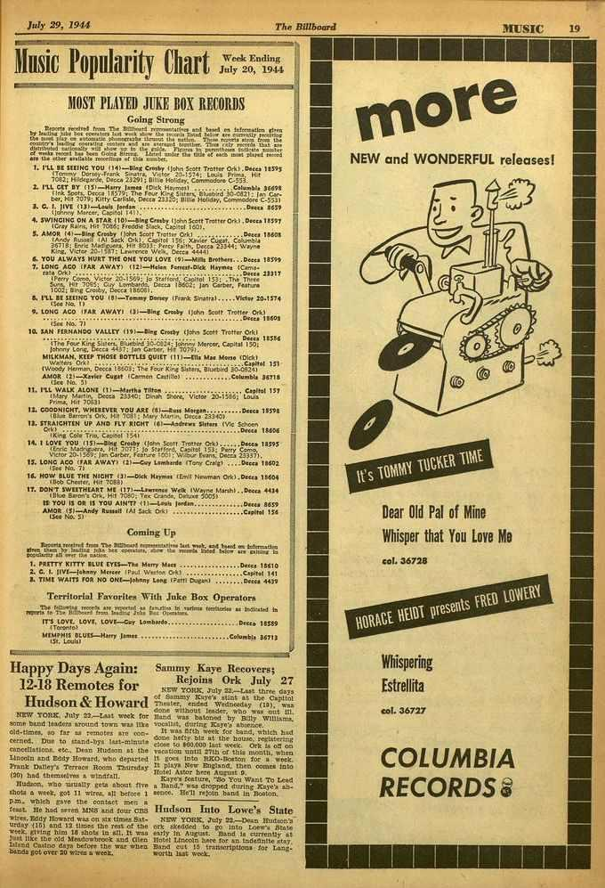 July 29, 1944 The Billboard MUSIC 19 usegmeters=viaxr=7.