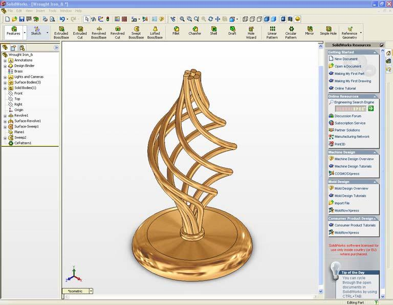 1.2 The SolidWorks window 1 8 9 10 11 13 3 12 2 4 23 22 21 5 6 7 Figure 1.