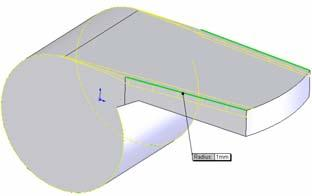 Cut Extrude Cut Extrude using this sketch (line). Through All is the automatic end condition.