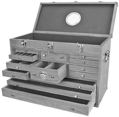 AMGA#2 (ISO 68 equivalent) SB1251 Machinist's Oak Tool Box Proudly made in the South Bend tradition, this heavy-duty oak tool chest will safeguard your finest tools for many years of dependable