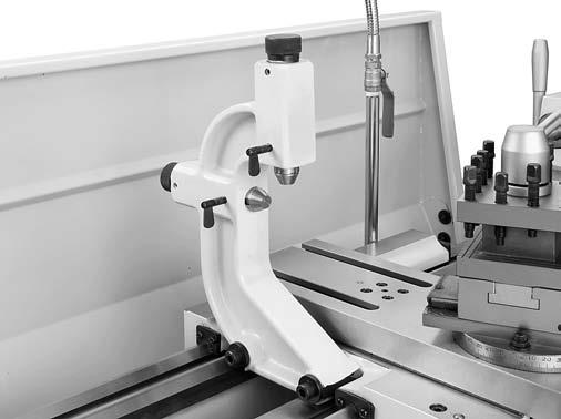 "For Machines Mfg. Since 5/11 OPERATION 14"" TURN-X Toolroom Lathe Follow Rest The follow rest mounts to the saddle with two cap screws (see Figure 56)."