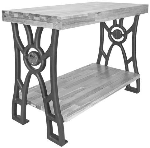 SB1354 South Bend Cast-Iron Workbench Legs, 1 Pair Designed with smooth flowing lines reminiscent of the early 1900's, these heavy cast-iron legs provide plenty of support and stability for shopmade