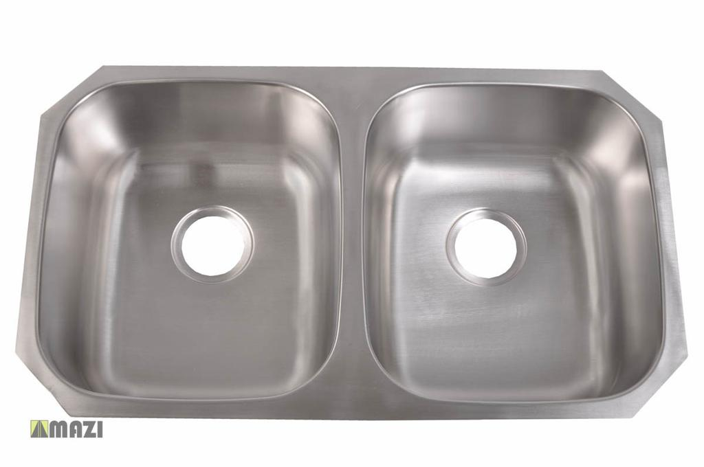 Stainless Steel Kitchen Sink 206 Made out of 18-Gauge stainless steel for maximum durability.