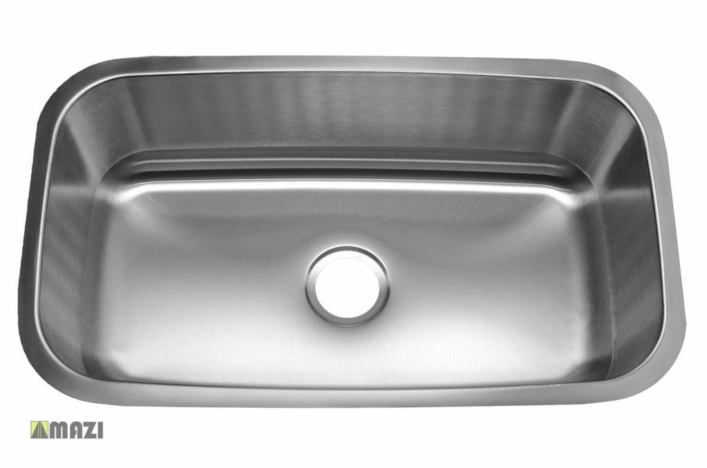 Stainless Steel Kitchen Sink 309 Made out of 18-Gauge stainless steel for maximum durability.