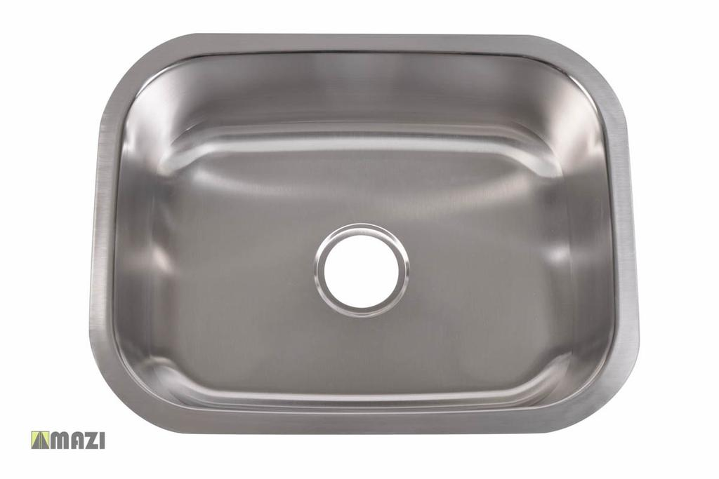 Stainless Steel Kitchen Sink 301 Made out of 18-Gauge stainless steel for maximum durability.