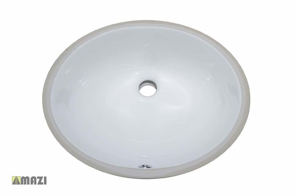 Ceramic Bathroom Sink 1602 The smooth, non-porous surface of the vessel sink is naturally durable and hygienic.