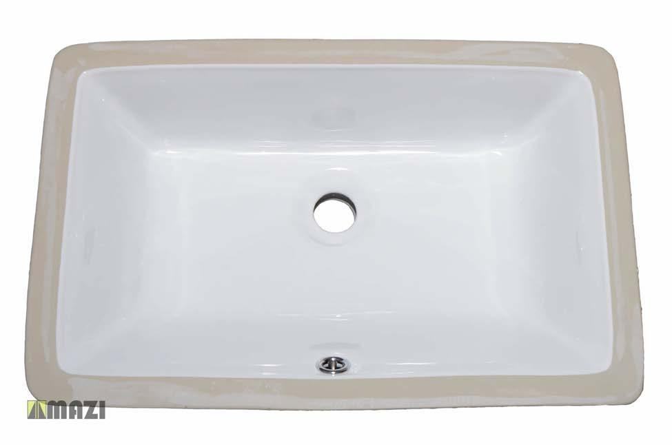 Ceramic Bathroom Sink 1629 The smooth, non-porous surface of the vessel sink is naturally durable and hygienic.