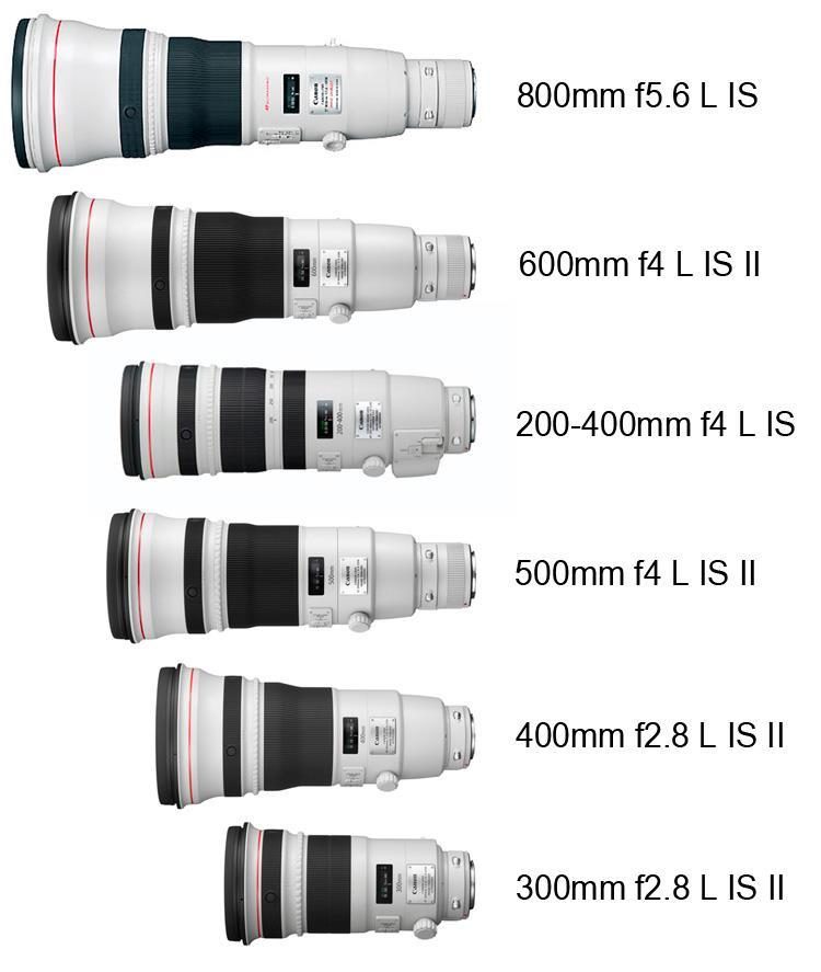 Telephoto lenses Lenses with focal length 85 mm or larger.