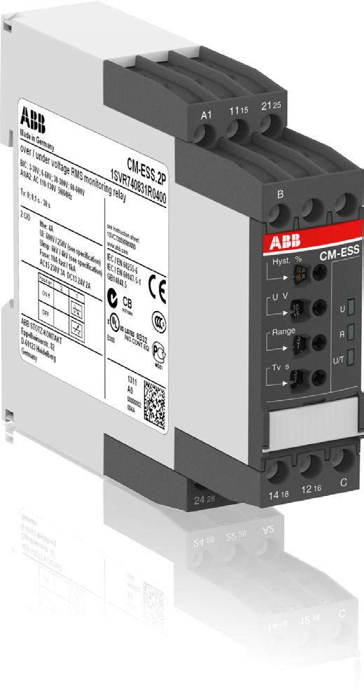 Data sheet Voltage monitoring relays CM-ESS.2 For single-phase AC/DC voltages The CM-ESS.