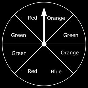 D. 44. Tim will spin the spinner below once. On which color is the spinner most likely to stop? A. orange B. blue C. red D. green 45. Mr. Jones sells apples at the farmers market.