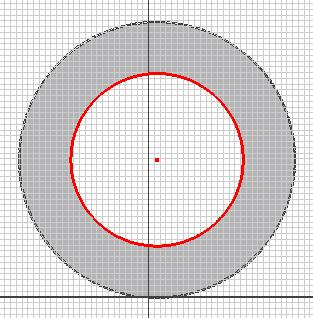 Figure 1C-1K: Projecting the Center Point and the circular edge. Figure 1C-1L: Offset lines.