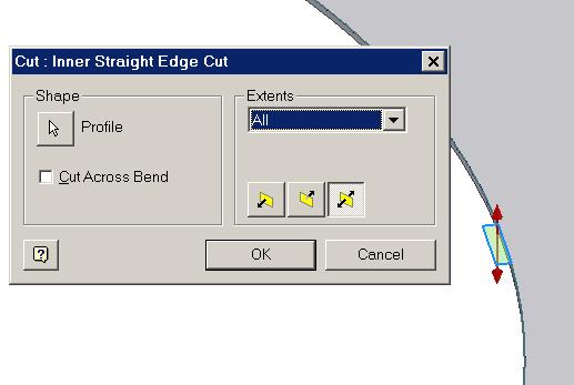 Select the Flange tool; in the tool s dialog window (Figure 1C-1D), type 1 in (inch) in the Distance text field and 60.