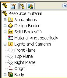 Renaming the Feature Select the name of the feature (Extrude 1).