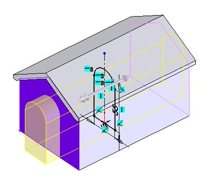 ensures that if the length of the house is changed the offset remains at 20mm.
