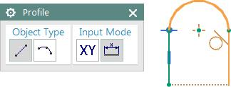 Click to end the line segment. Let your cursor remain at the end point, and again click and hold the left mouse button.