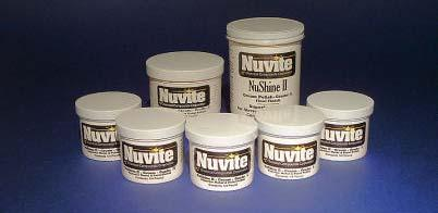 Nuvite Recommended Polishing Procedures for NuShine II Metal Polish The following polishing procedures are a compilation of many methods developed through our own use of our products in field and lab