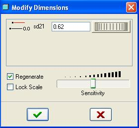 10. Select the diameter dimension 0.62 and select modify dimension icon. Modify Dimension window will appear. Note that the dimension variable is sd21 and the value of the dimension is 0.62. We will use this dimension to create Datum Plane later.