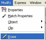 AutoCAD Command: ERASE The New command is used to permanently remove Objects from the drawing.